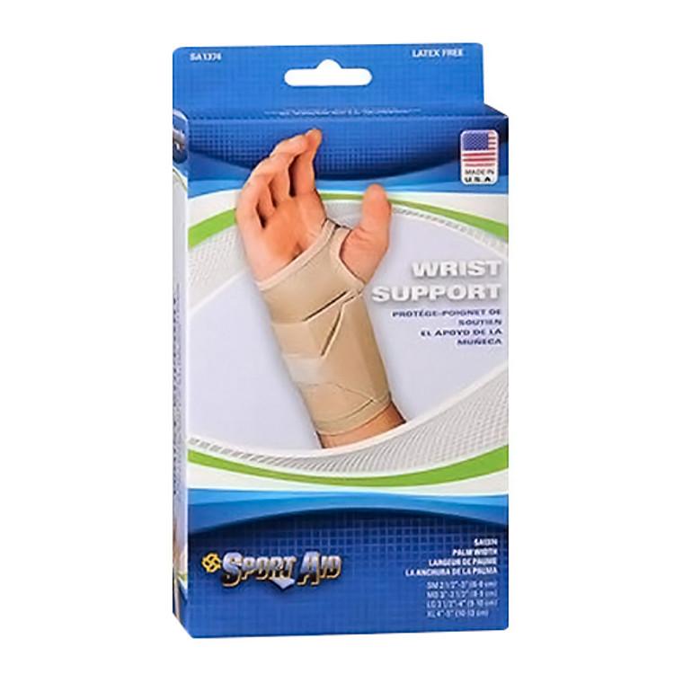 Sportaid Wrist Support Latex Free, Beige, Left, Medium, 1 Ea