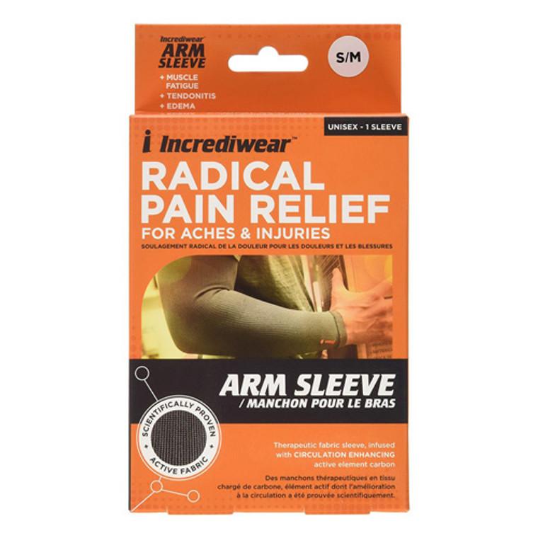 Incrediwear Tech-3 Arm or Calf Support Sleeve Long Length Charcoal, 1 Ea