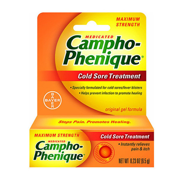 Campho Phenique Medicated Cold Sore Treatment,  0.23 oz