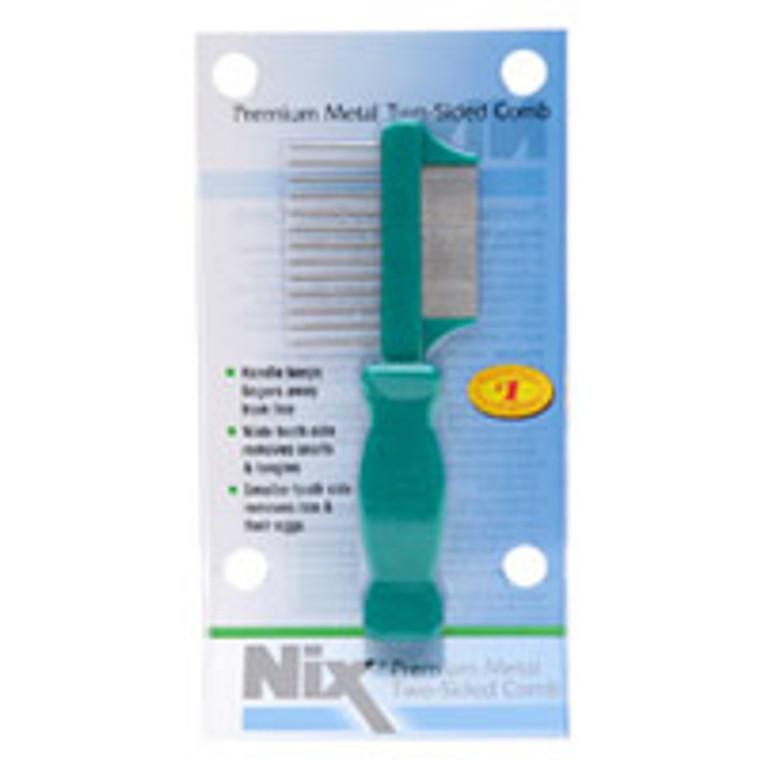 Nix Premium Metal Two-Sided Lice Comb - 1 Ea