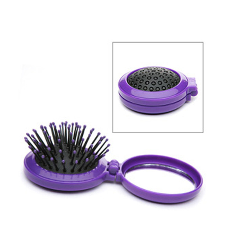 Paris Presents Beauty To Go Cosmetic Pop Up Hair Brush With Mirror - 1 Ea
