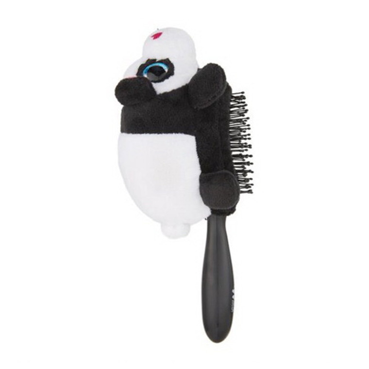 Wet Brush Detangler Plush Panda Hair Brush, Black, 1 Ea