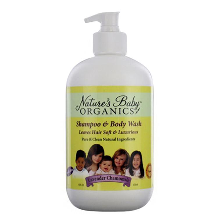 Nature'S Baby Organicss Lavender Chamomile Hair Shampoo And Body Wash, 16 Oz