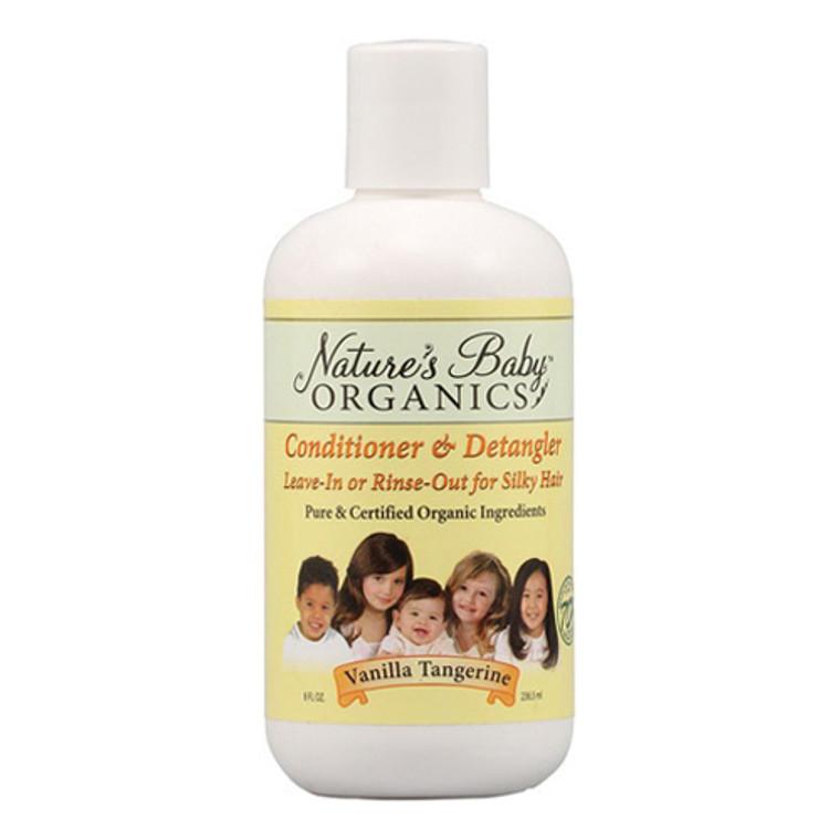 Nature'S Baby Organicss Hair Conditioner And Detangler, Vanilla Tangerine, 8 Oz