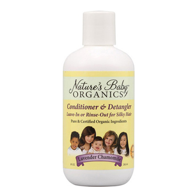 Nature'S Baby Organicss Hair Conditioner And Detangler, Lavender Chamomile, 8 Oz