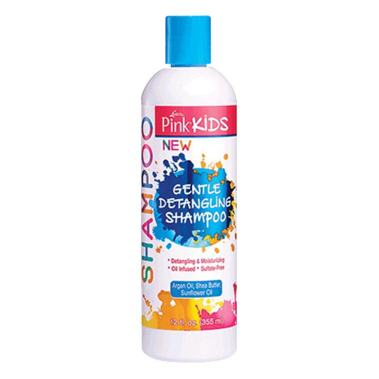 Lusters Pink Kids Gentle Detangling Hair Shampoo, 12 Oz