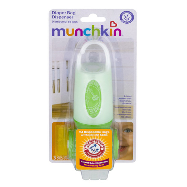 Munchkin Arm And Hammer Diaper Bag Dispenser, Colors May Vary, 1 Ea