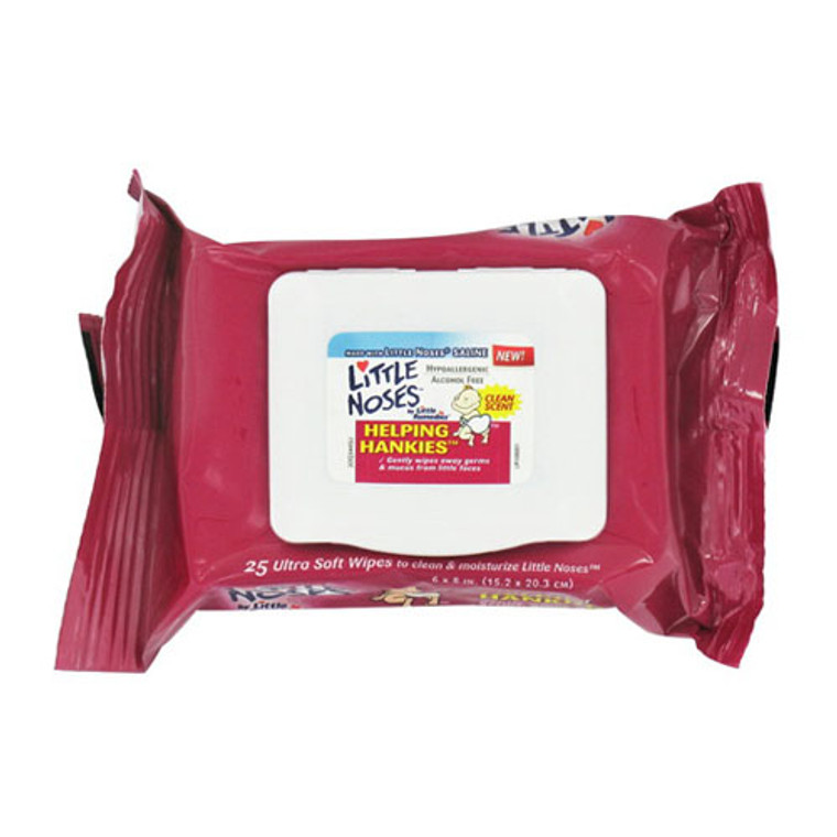 Little Remedies Little Noses Helping Hankies Clean Scent Wipes, 25 Ea