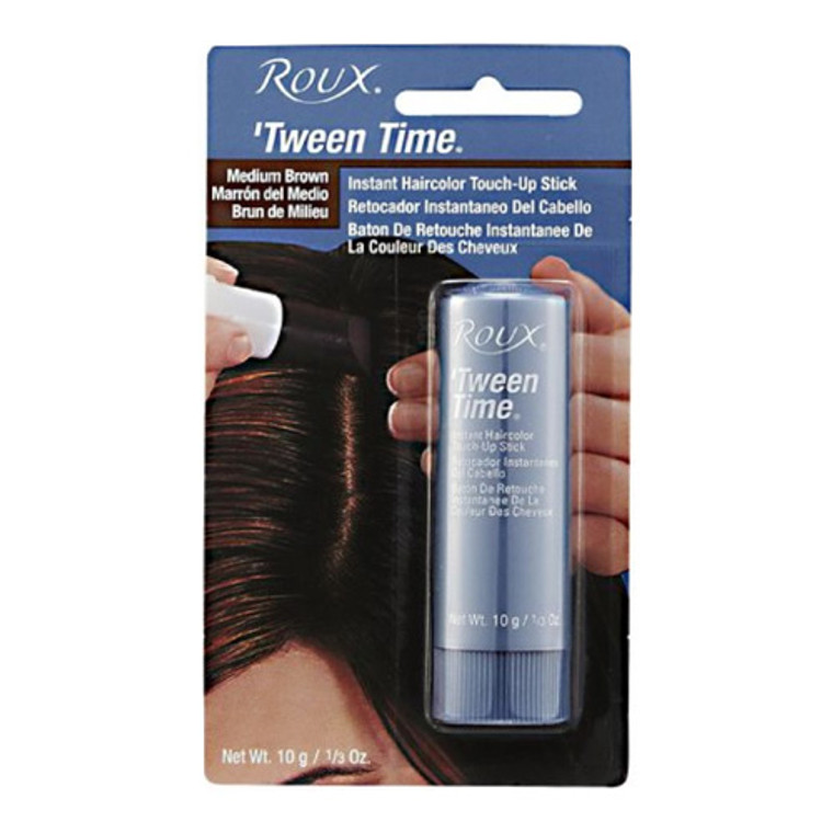 Roux Tween Time Hair Color Crayon Instant Root Concealer Medium Brown, 1 Ea