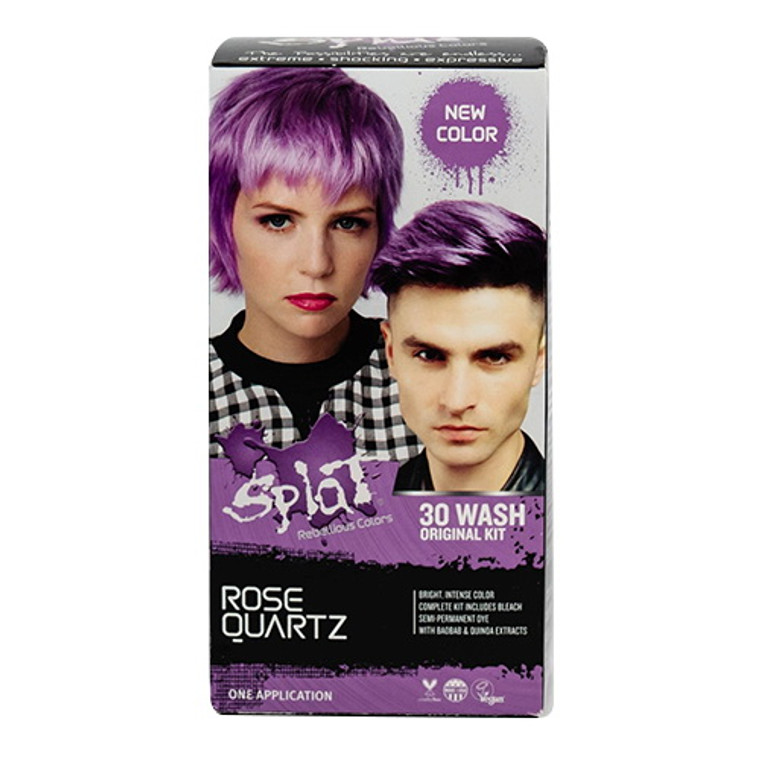 Splat Rebellious Colors 30 Wash Original Kit Hair Color ROSE QUARTZ, 6 Oz