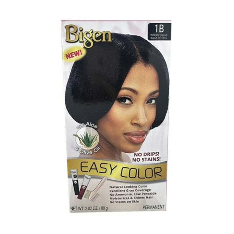 Bigen Easy Color Permanent Hair Color, Intense Black, 2.82 Oz