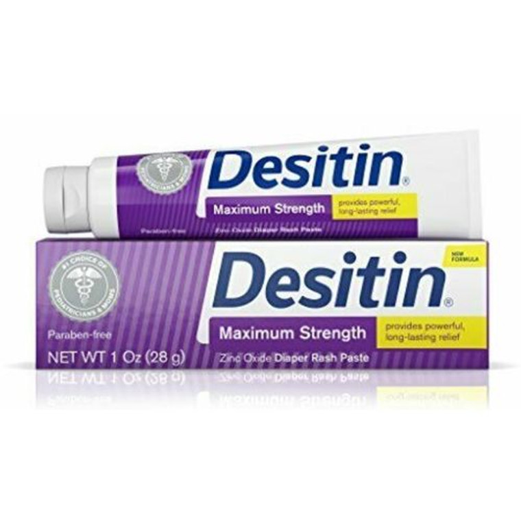 Desitin Zinc Oxide Diaper Rash Paste, Maximum Strength, 1 Oz