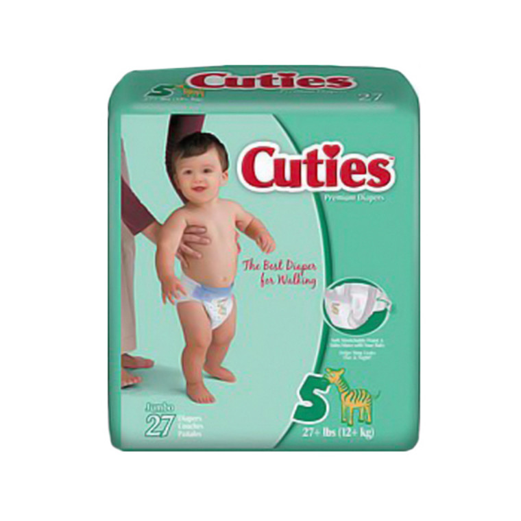 Cuties Baby Diapers Size 5 - 27 Ea, 4 Pack