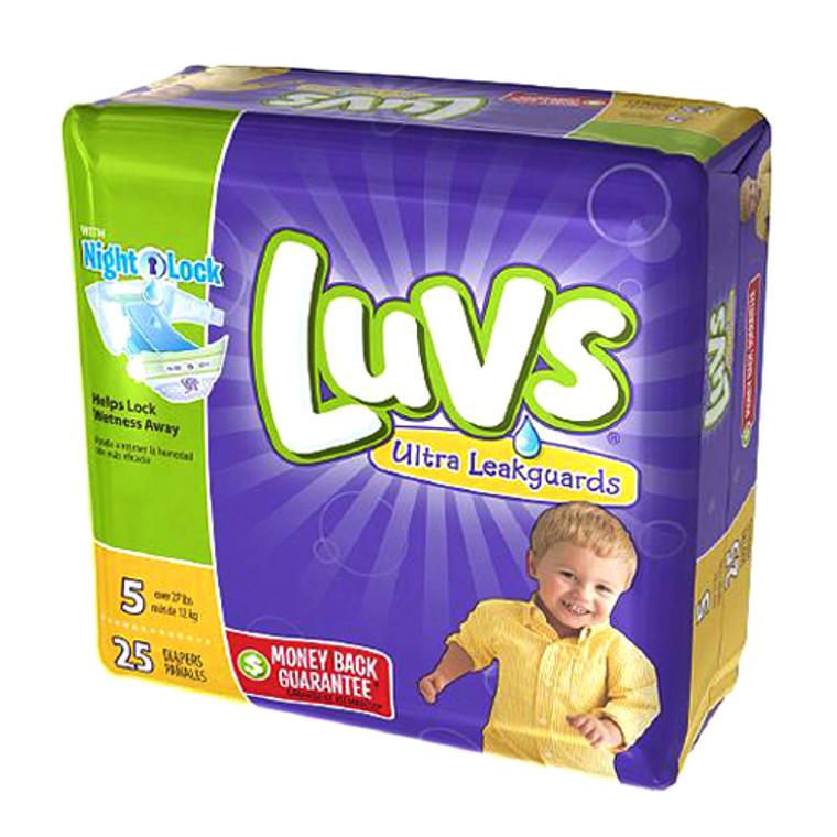 Luvs Ultra Leakguards Diapers Night Lock, Size 5, 25 Ea - 4 Pack