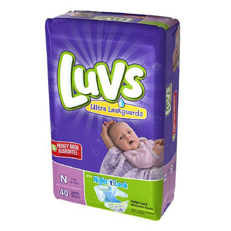 Luvs Ultra Leakguards Diapers,Size Newborn, Jumbo Pack - 40 Ea / 4 Pack