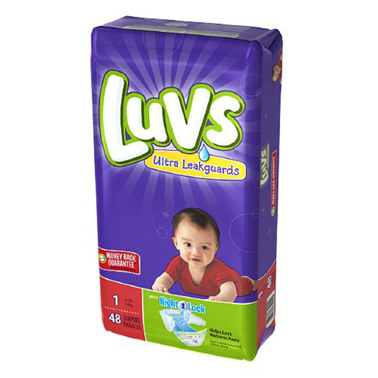 Luvs With Ultra Leakguards Diapers, Size 1 - 48 Ea/ 2 Pack