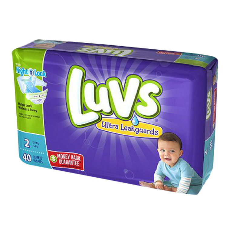 Luvs With Ultra Leakguards Diapers, Size 2 - 40 Ea/ 2 Pack