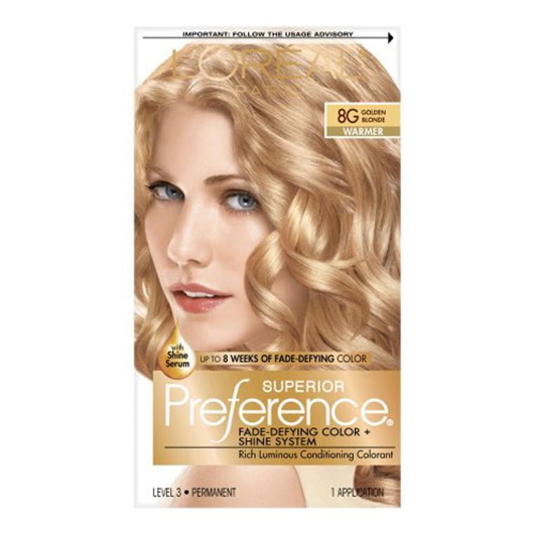 Loreal Superior Preference Hair Color, 8G Golden Blonde - 1 Ea