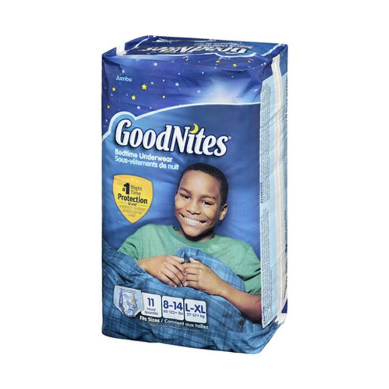 Goodnites Boys Bedtime Underwear Jumbo 60 To 125 Plus Lbs, Large/Extra Large  - 11 Ea, 4 Pack