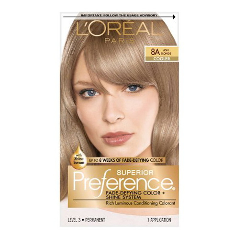 Loreal Superior Preference Hair Color, 8A Ash Blonde - 1 Ea