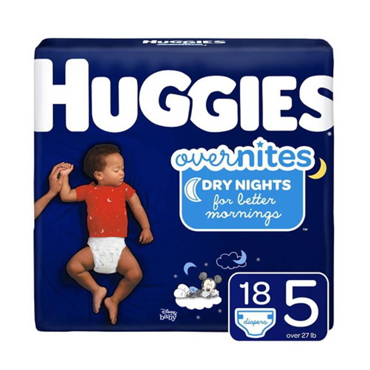 Huggies Overnites Diapers Jumbo Pack, Size 5, 18 Ea, 4 Pack