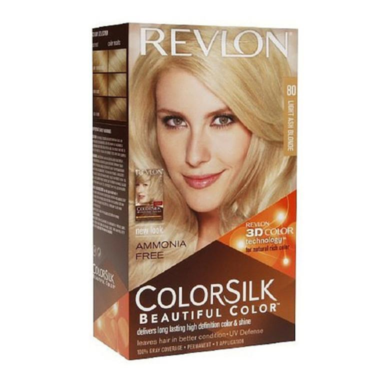 Revlon Colorsilk Ammonia-Free Permanent Haircolor, Light Ash Blonde #80 - 1 Ea