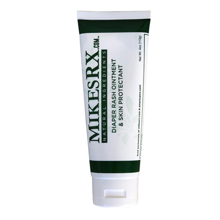 MIKESRX l Ointment Relieves Diaper Rash, Skin Irritations, Minor Burns, Cuts and Itching l Certified Organic Ingredients l 4 oz