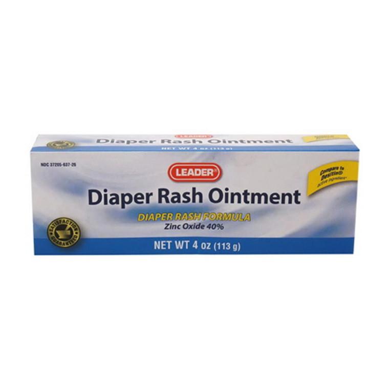 Leader Diaper Rash Ointment with Zinc Oxide, 4 Oz