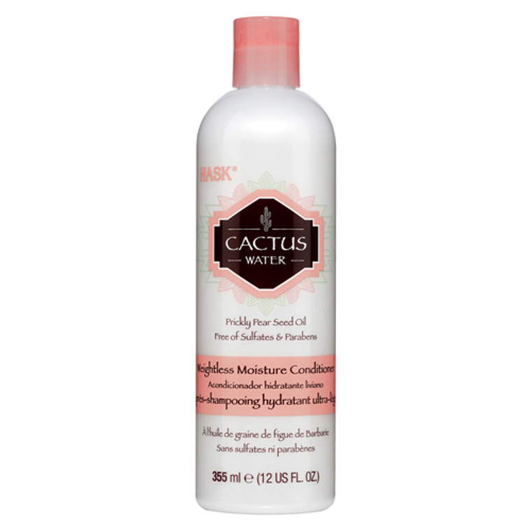 Hask Cactus Water Prickly Pear Seed Oil Weightless Moisture Conditioner, 12 oz