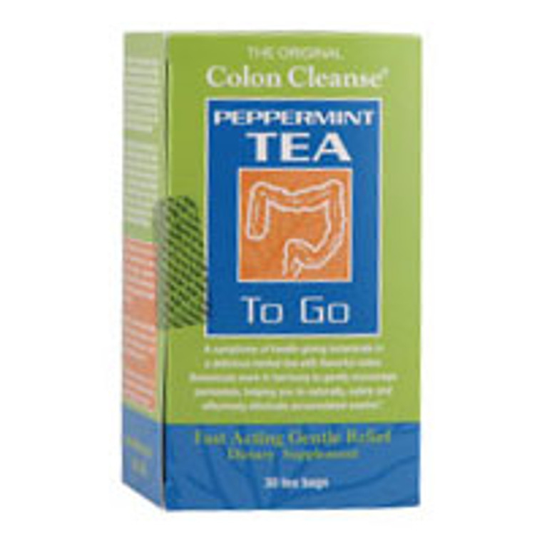 Health Plus Colon Cleanse Tea To Go Peppermint Tea Bags - 20 Ea