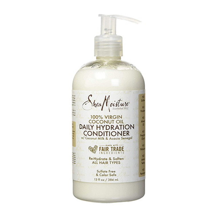 Shea Moisture Daily Hydration Hair Conditioner, 100% Virgin Coconut Oil, 13 Oz