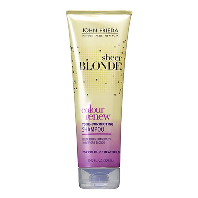 John Frieda Sheer Blonde Color Renew Tone Correcting Shampoo, 8.45 Oz