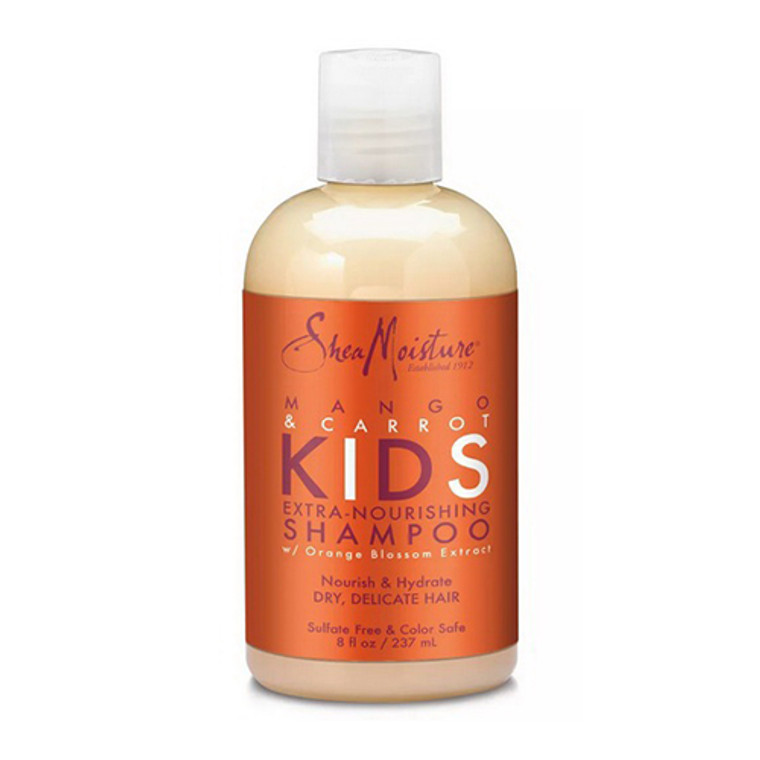 Shea Moisture Mango and Carrot Kids Extra Nourishing Hair Shampoo, 8 Oz