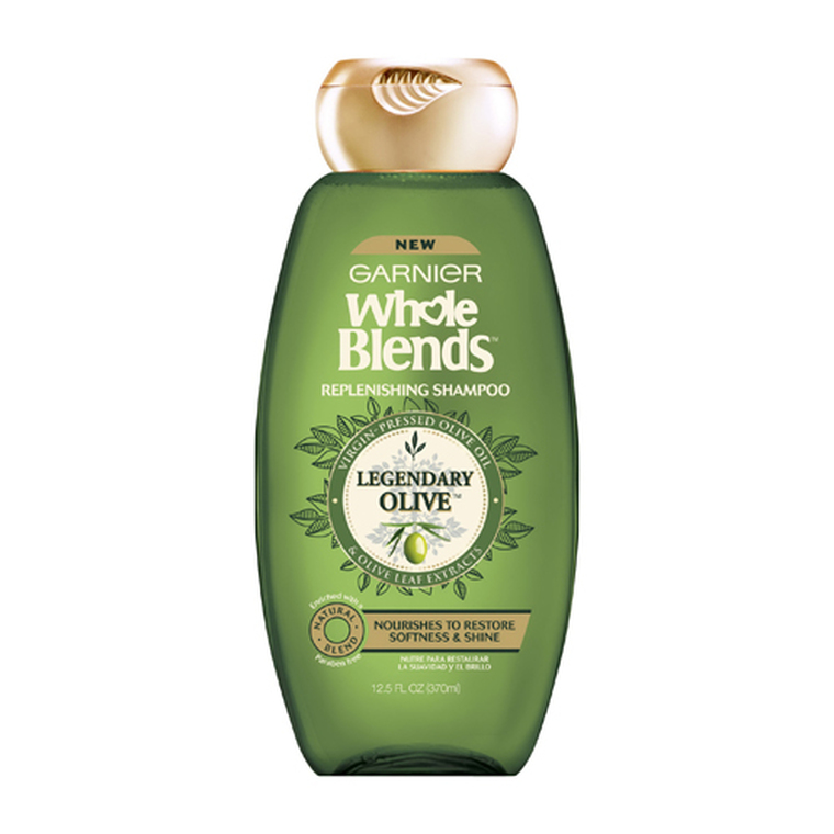 Garnier Whole Blends Replenishing Hair Shampoo, Legendary Olive, 12.5 Oz