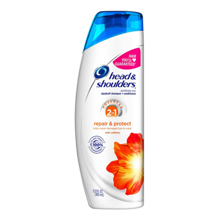Head and Shoulders Repair and Protect 2 in 1 Anti Dandruff Hair Shampoo Plus Conditioner, 12.8 Oz