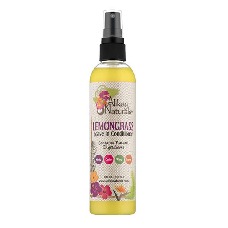 Alikay Naturals Lemongrass Leave-In Hair Conditioner, 8 Oz