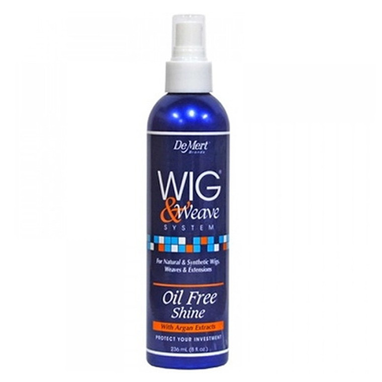 Demert Wig And Weave Oil Free Shine For Natural And Synthetic Hair, 8 Oz