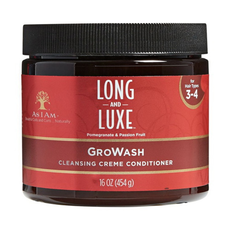 As I Am Long and Luxe Growash Conditioner, 16 Oz