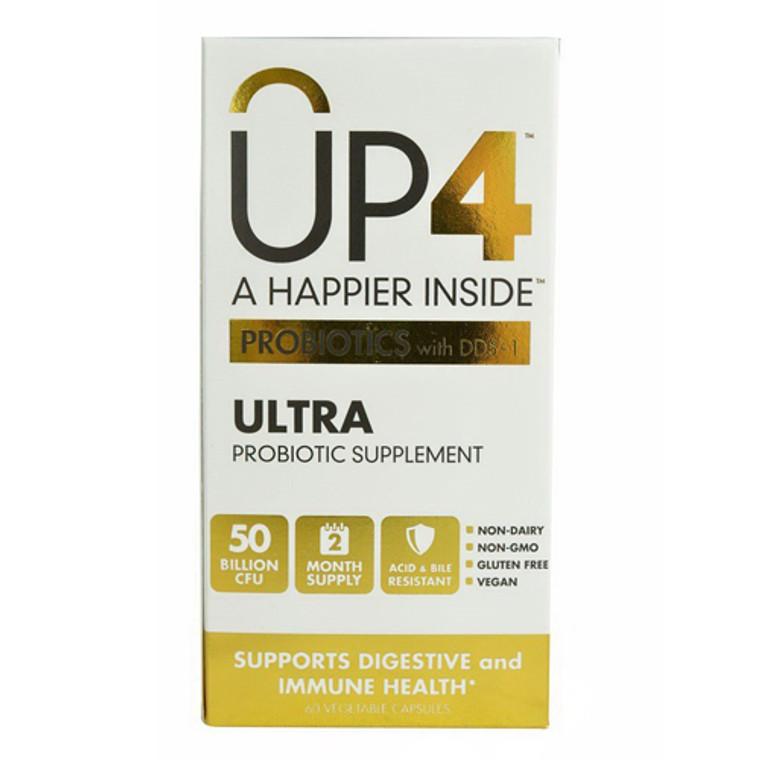 UP4 Ultra Probiotic Supplement 50 Billion CFU Vegetarian Capsules, 60 Ea
