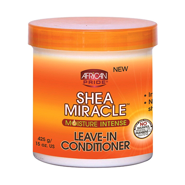 African Pride Shea Butter Miracle Leave in Hair Conditioner, 15 Oz