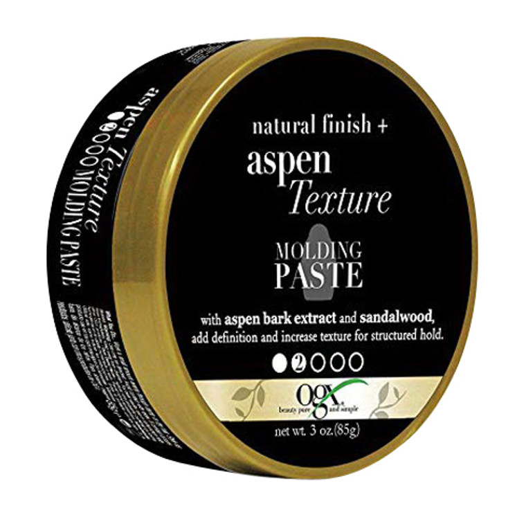 Ogx Natural Finish Plus Aspen Extract Texture Molding Paste for Hair, 3 Oz