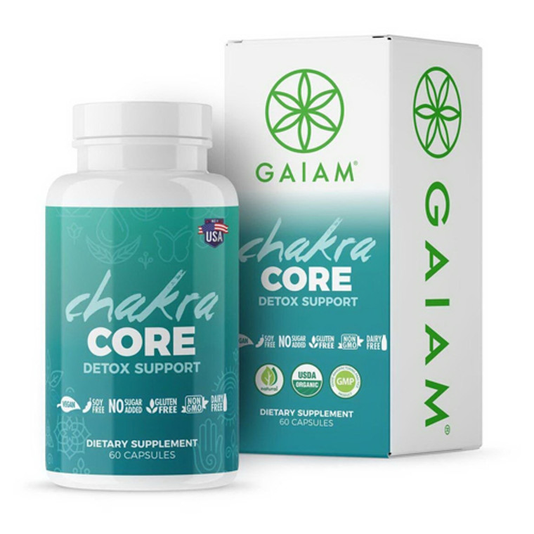 Gaiam Organic Chakra Core Detox Support Capsules, 60 Ea