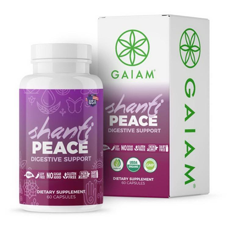 Gaiam Organic Shanti Peace Digestive Support Capsules, 60 Ea