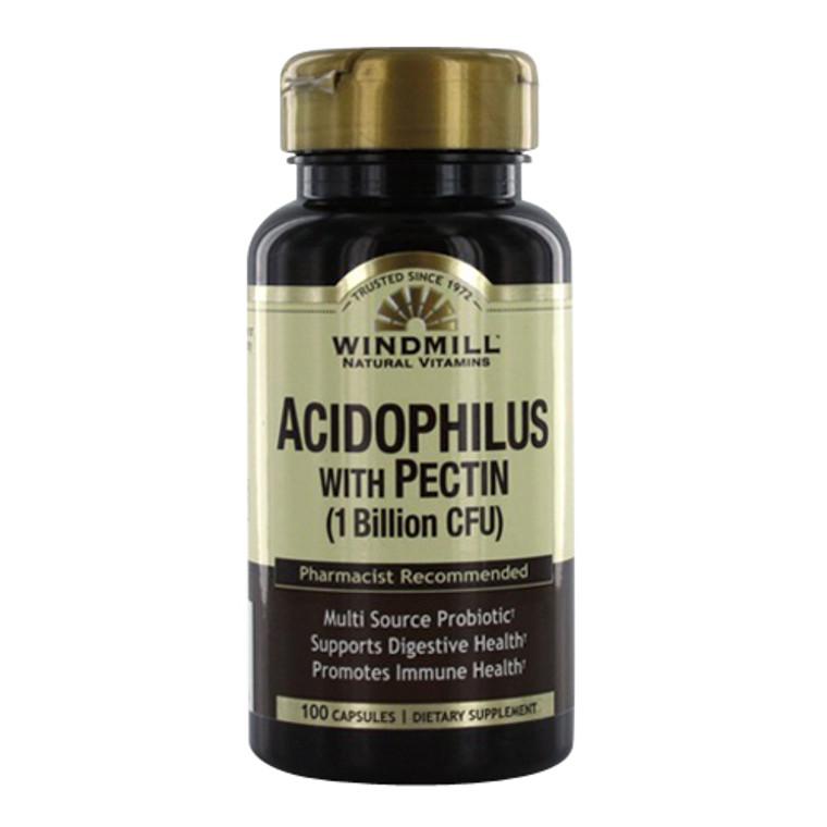 Windmill Acidophilus With Pectin Pro biotic Capsules, 60 Ea