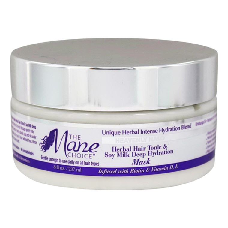 Heavenly Halo Herbal Hair Tonic And Soy Milk Deep Hydration Mask By The Mane Choice, 8 Oz
