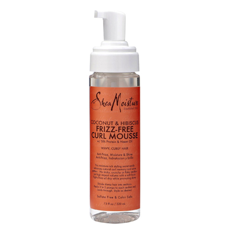 Shea Moisture Coconut And Hibiscus Curl Hair Mousse, 7.5 Oz