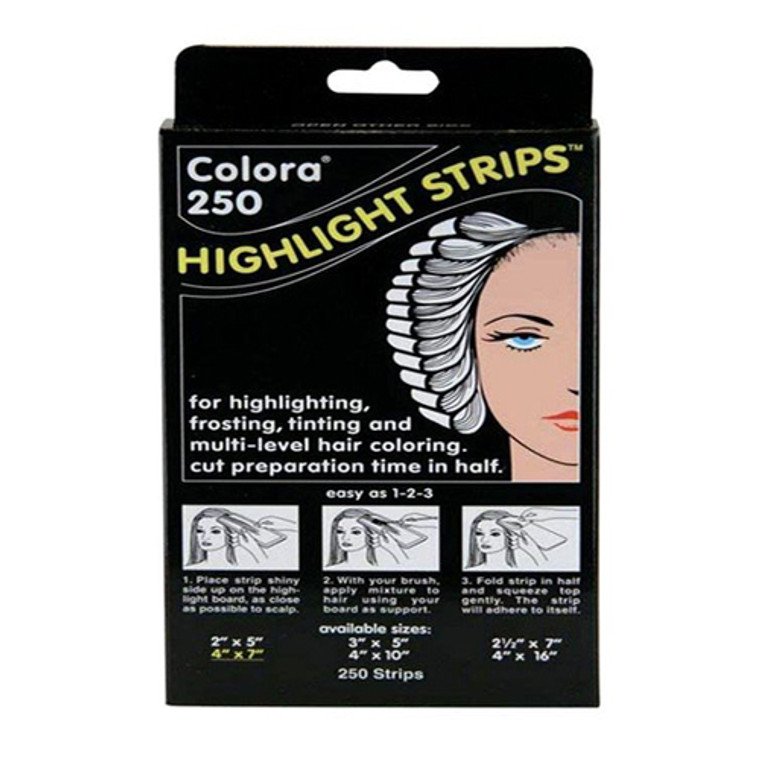 Colora 250 Highlight Strips 4 X 7 Inch, 250 Ea