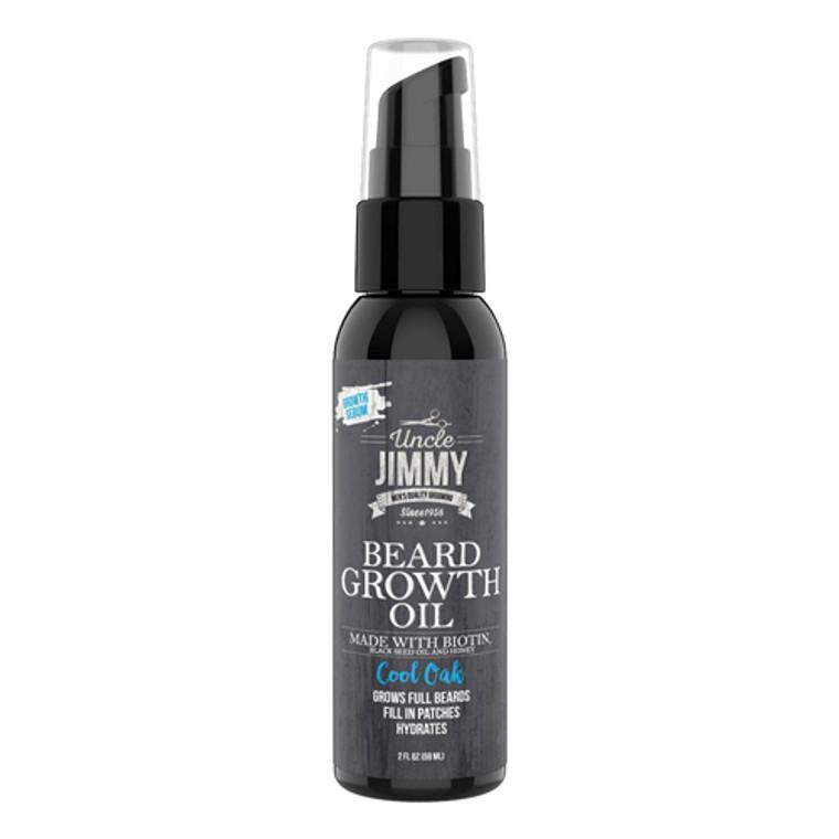 Uncle Jimmy Beard Growth Oil, Cool Oak, 2 Oz