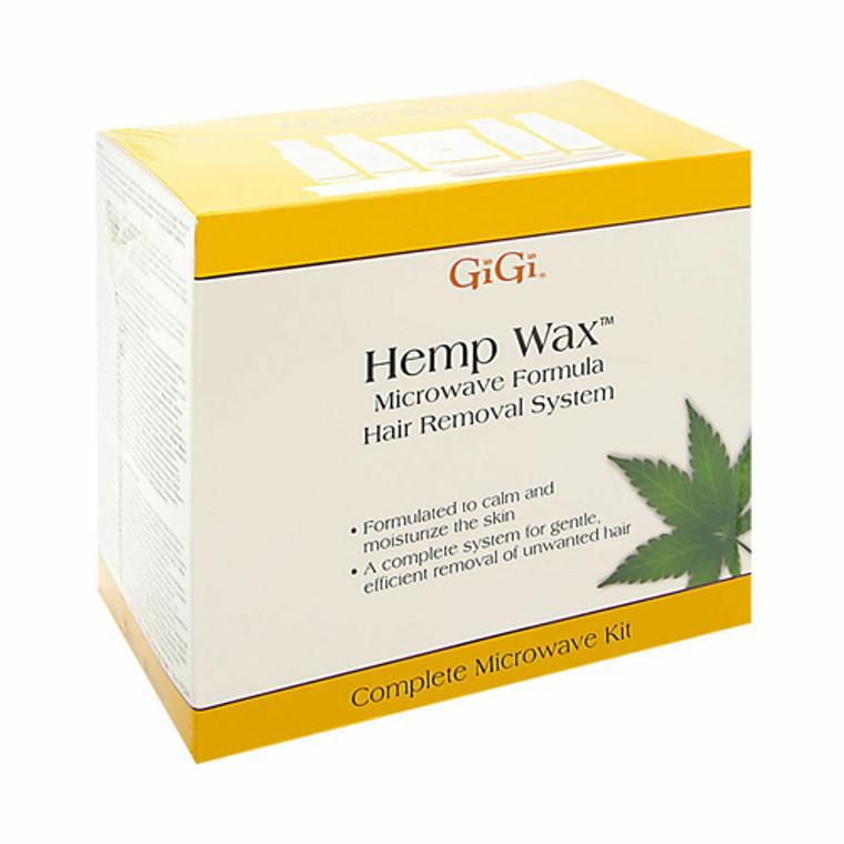 Gigi Creme Wax Microwave Formula Hair Removal System Kit, Sensitive Skin, 1 Ea