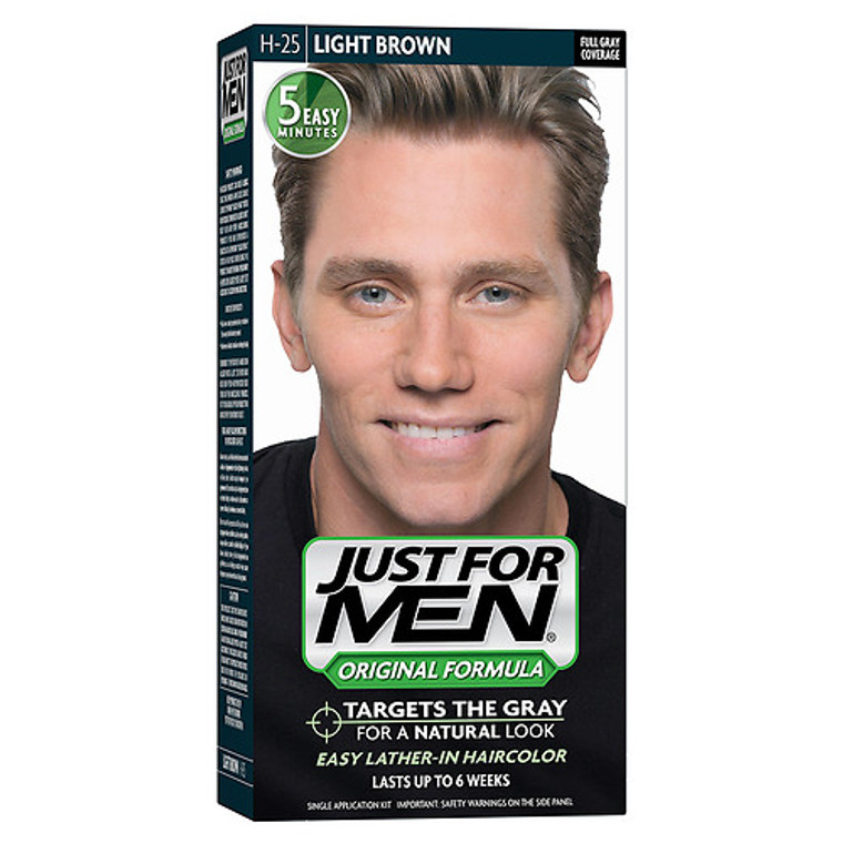 Just For Men Shampoo-In Hair Color, Light Brown - 1 Ea
